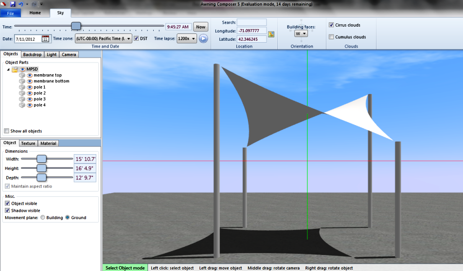 Great Awning Composer Allows You To Add Fabric And Color To Your Sail, And It  Also Allows The Designer The Ability To Add
